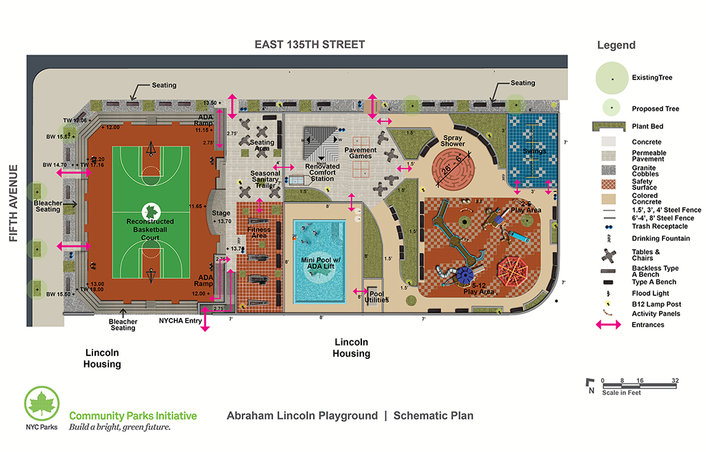 Design of Abraham Lincoln Playground Reconstruction