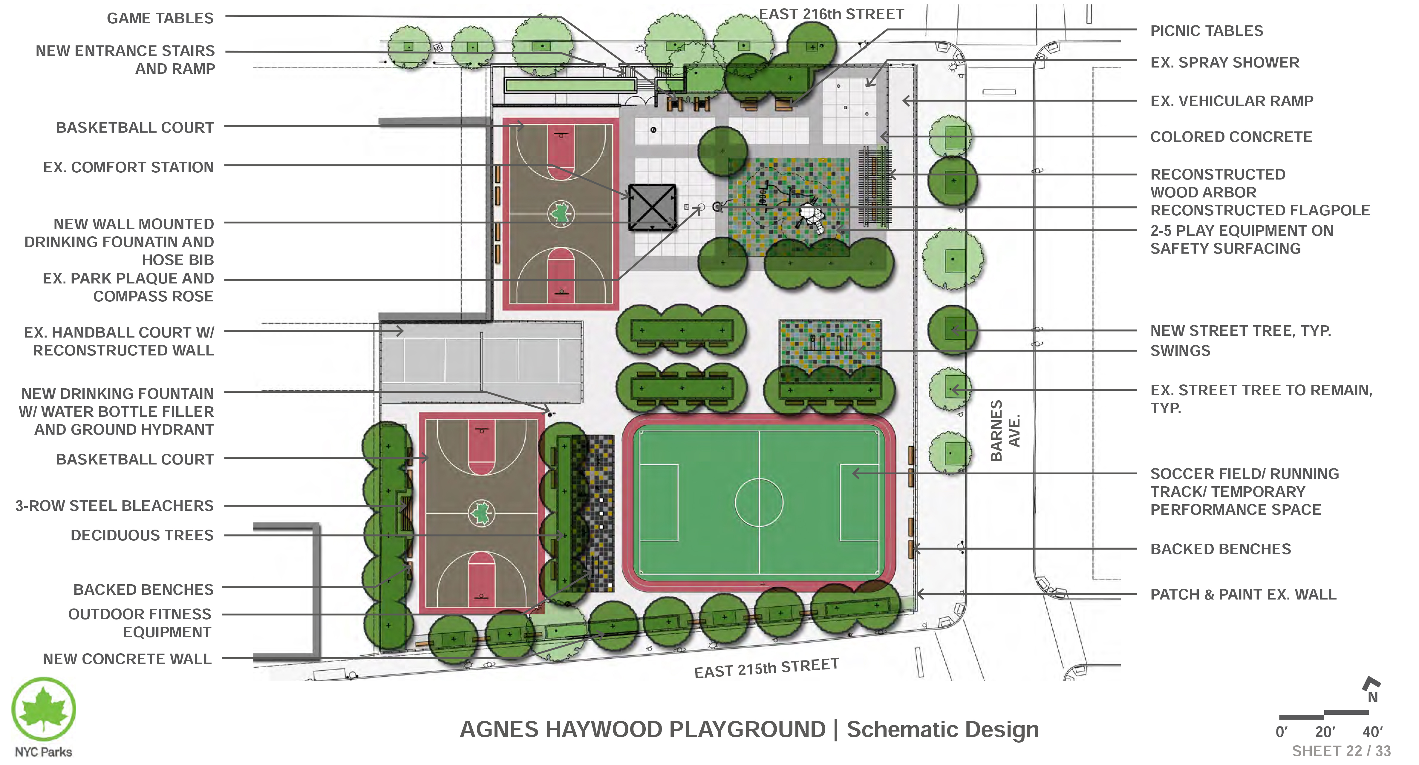 Design of Agnes Haywood Park Basketball Court Reconstruction