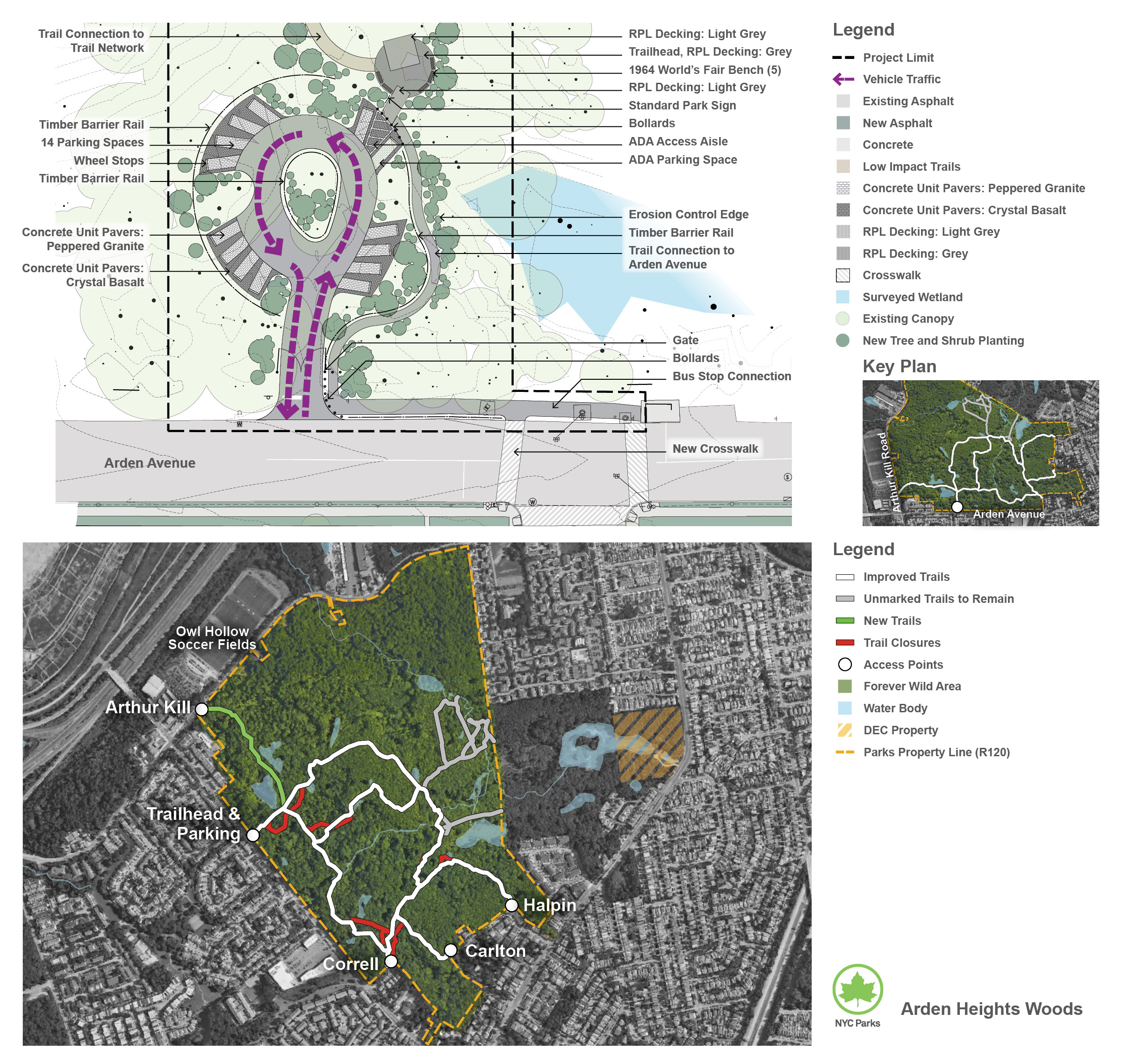 Design of Arden Heights Woods Trailhead Parking Construction and Trail Improvements