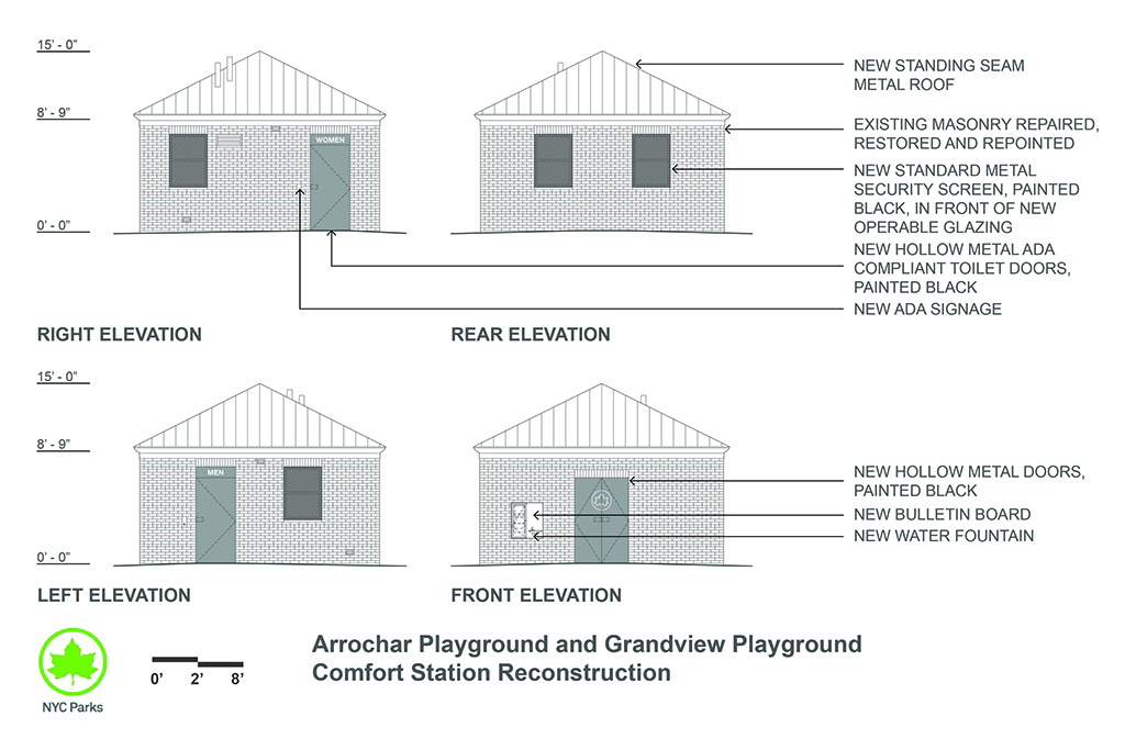 Design of Arrochar Playground and Grandview Playground Comfort Station Reconstruction