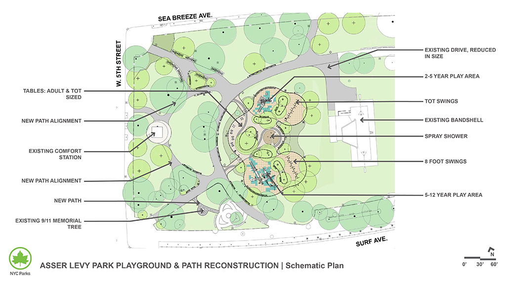 Design of Asser Levy Park Playground & Path Reconstruction