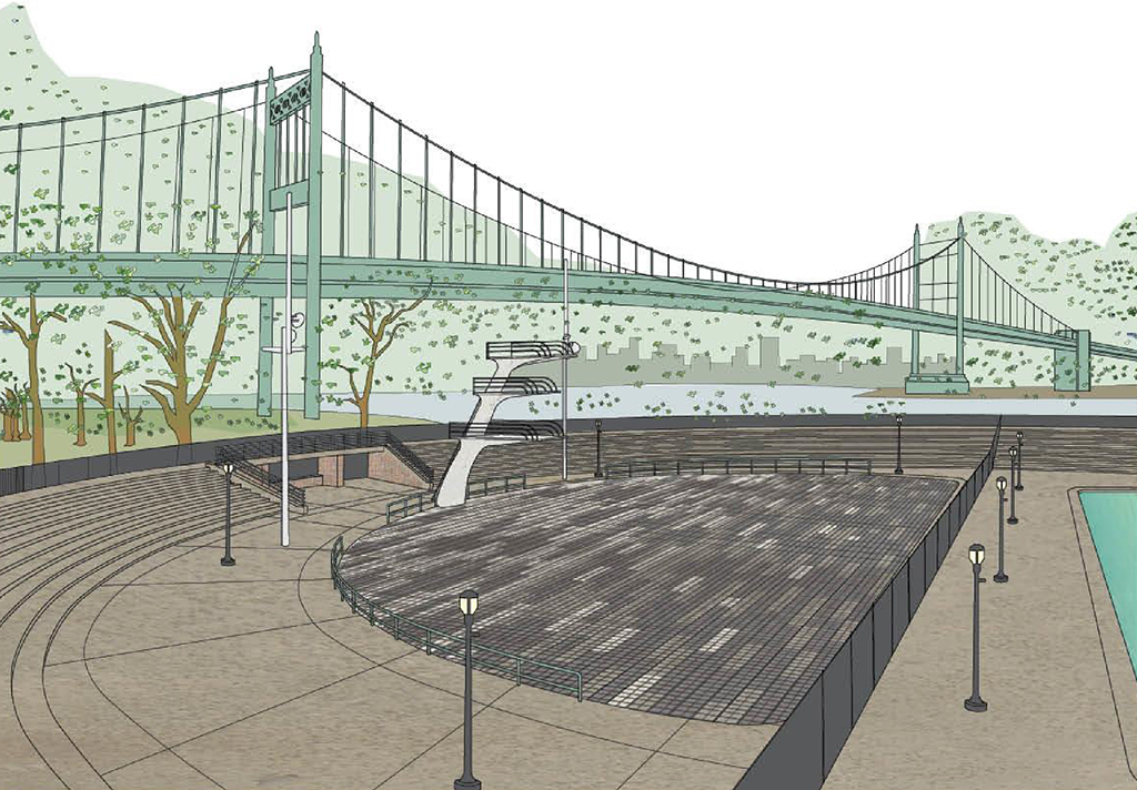 Design of Astoria Park Diving Pool Reconstruction as a Plaza