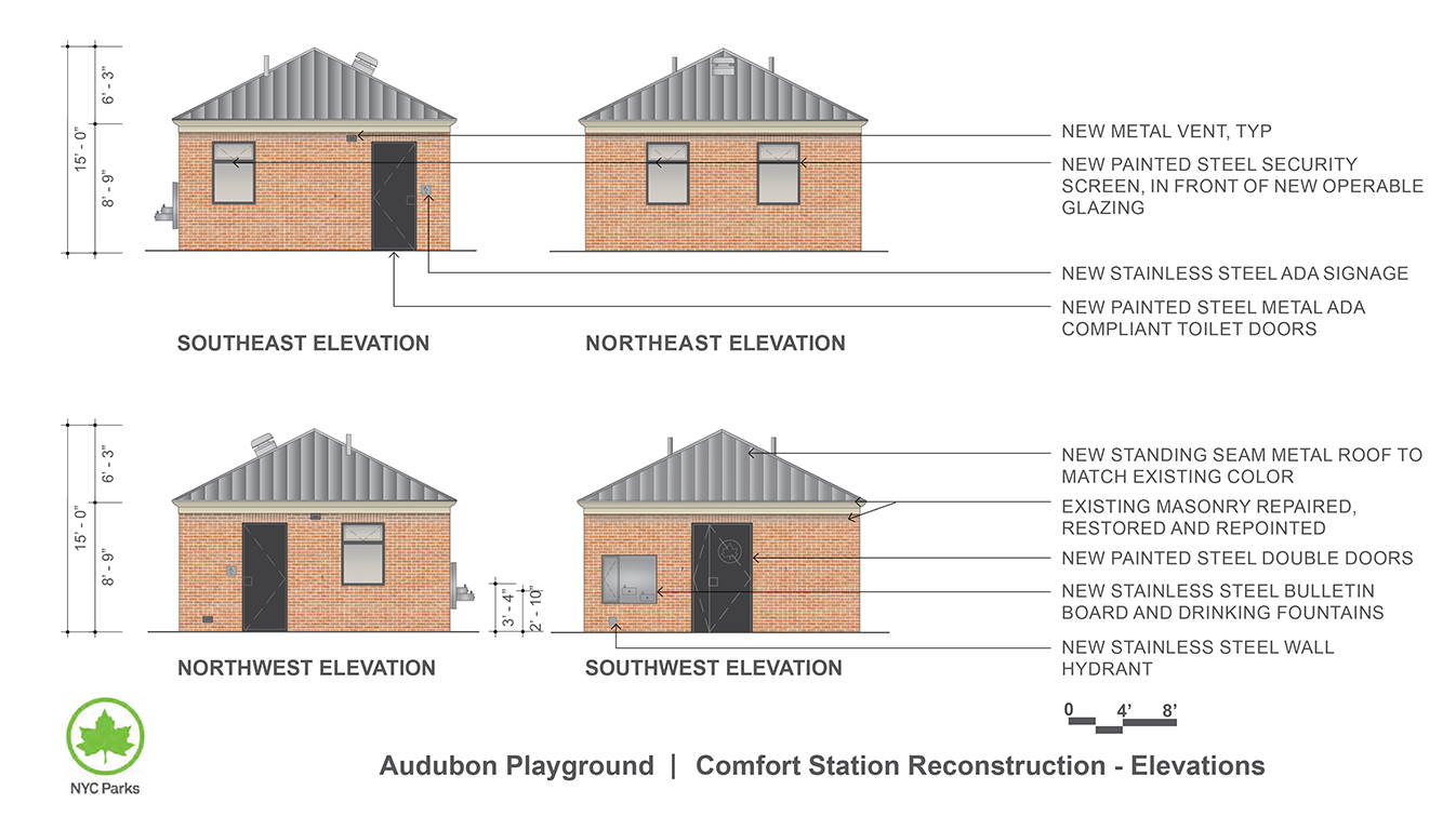 Design of Audubon Playground Comfort Station Reconstruction