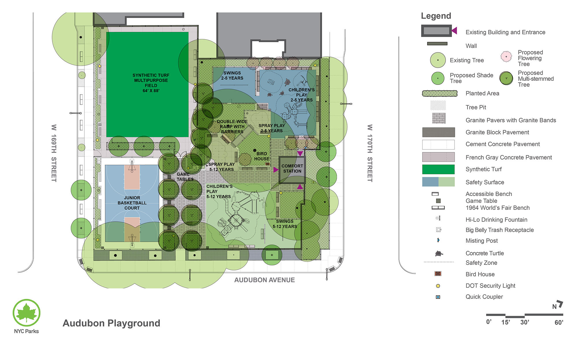 Design of Audubon Playground Reconstruction