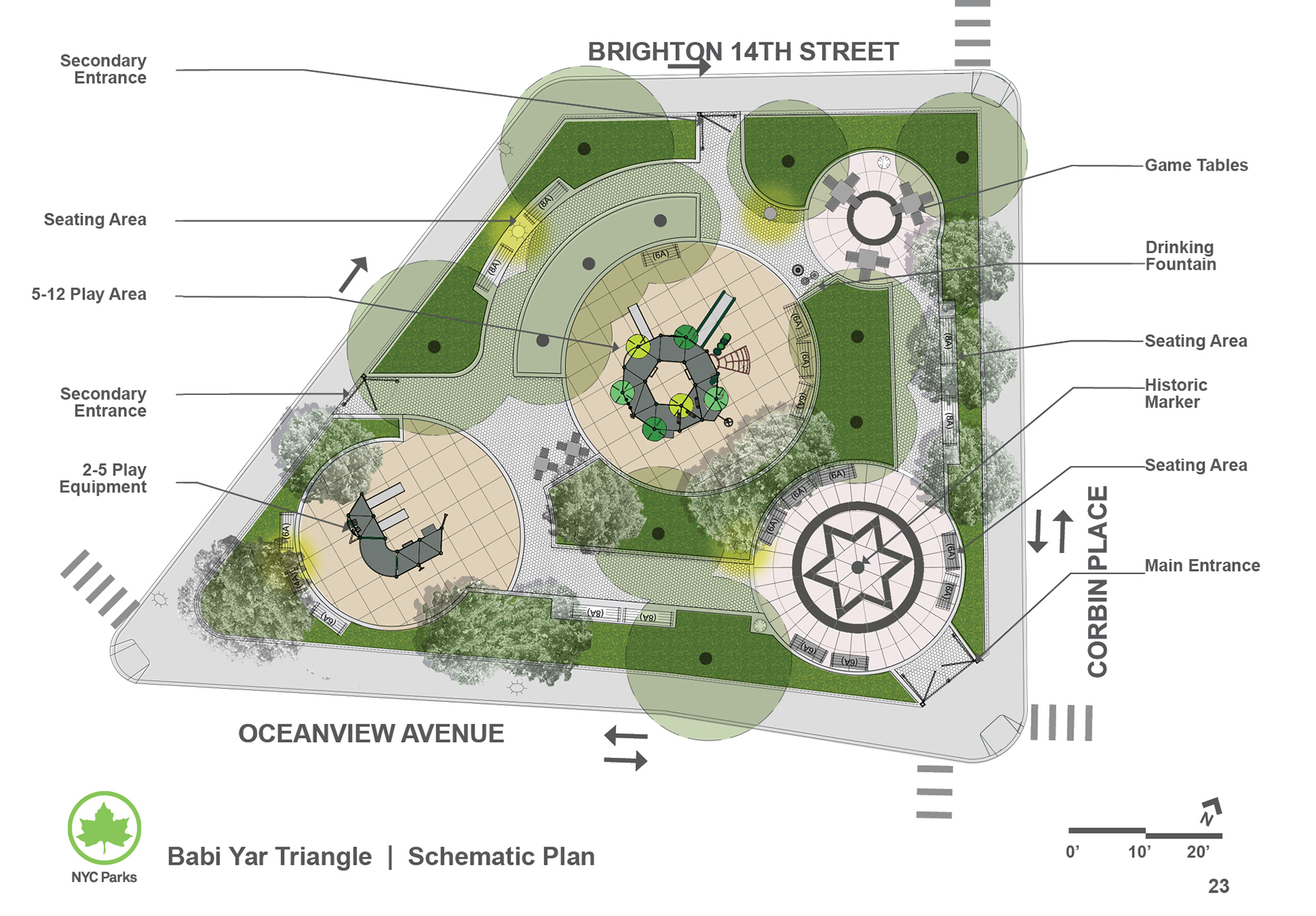 Design of Babi Yar Triangle Playground Reconstruction