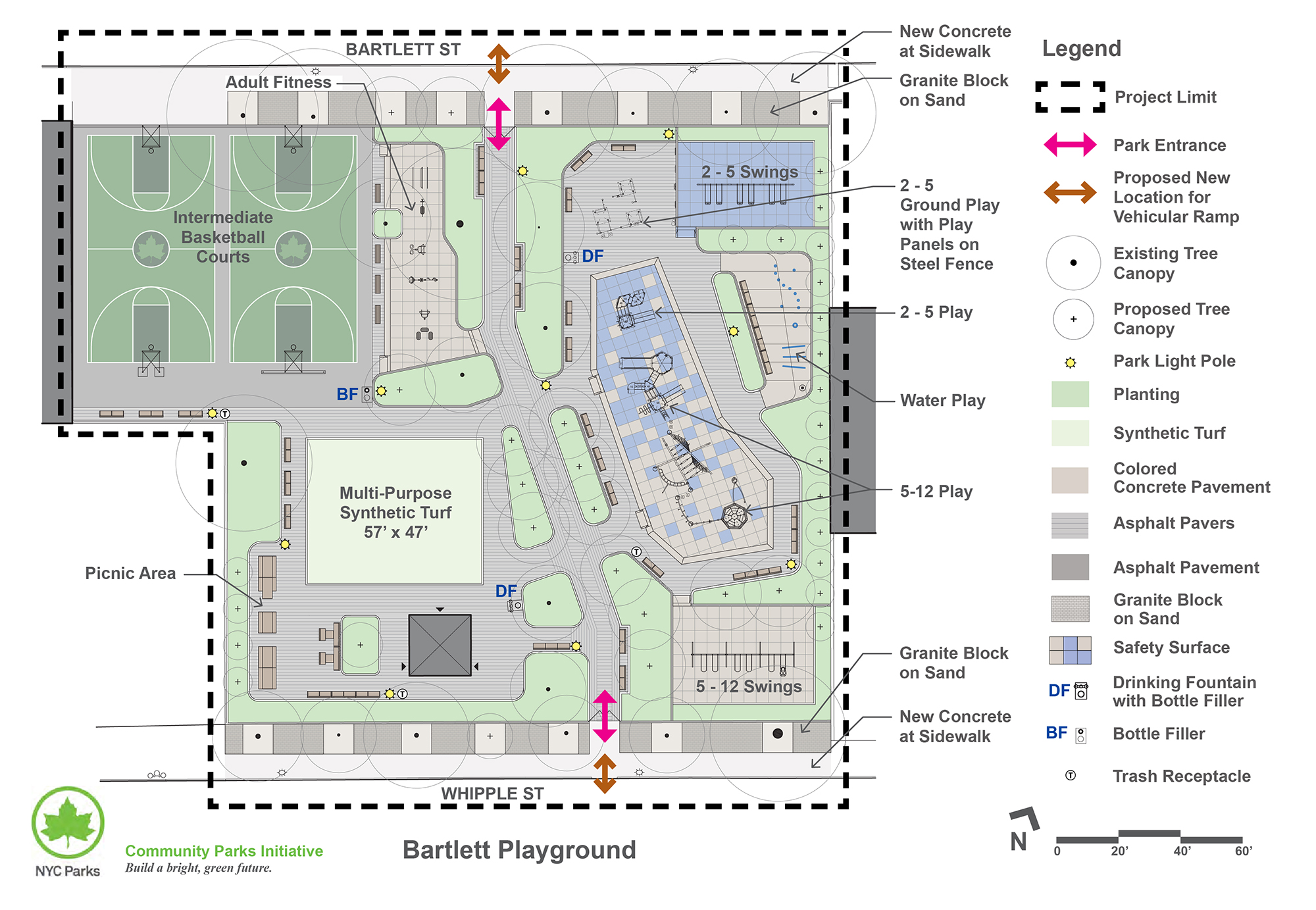 Design of Bartlett Playground Reconstruction