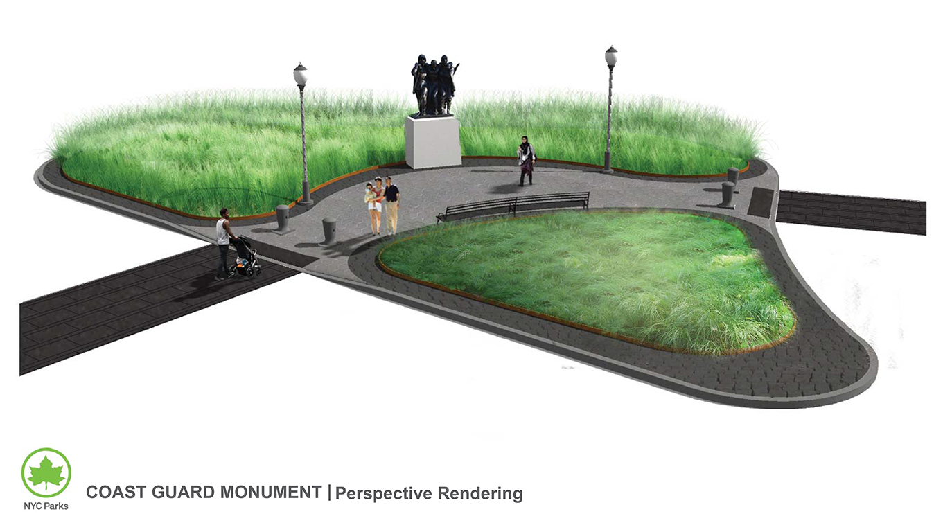 Design of Battery Park Coast Guard Monument Relocation