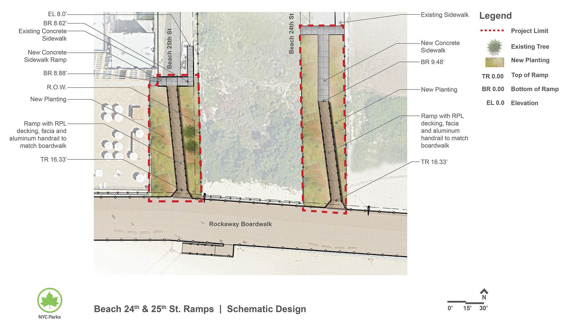 Design of Beach 24th and 25th Streets Ramps Construction