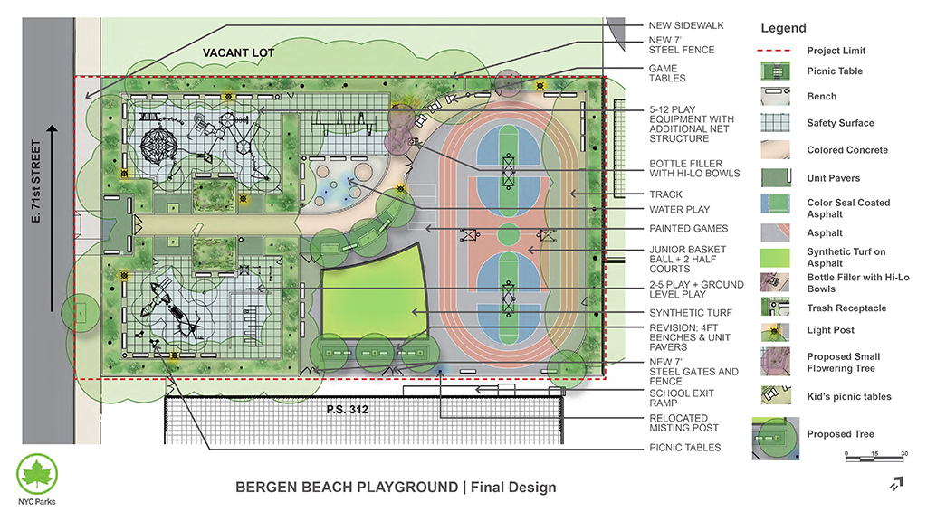 Design of Bergen Beach Playground Reconstruction