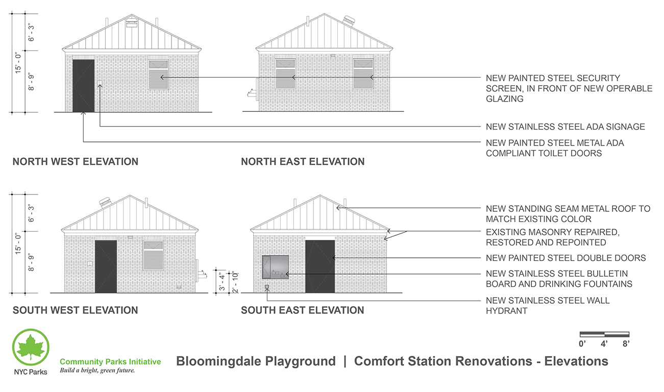 Design of Bloomingdale Playground Comfort Station Reconstruction