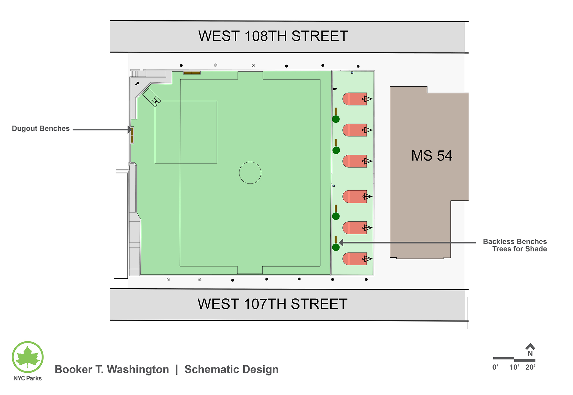 Design of Booker T. Washington Playground Synthetic Turf Reconstruction