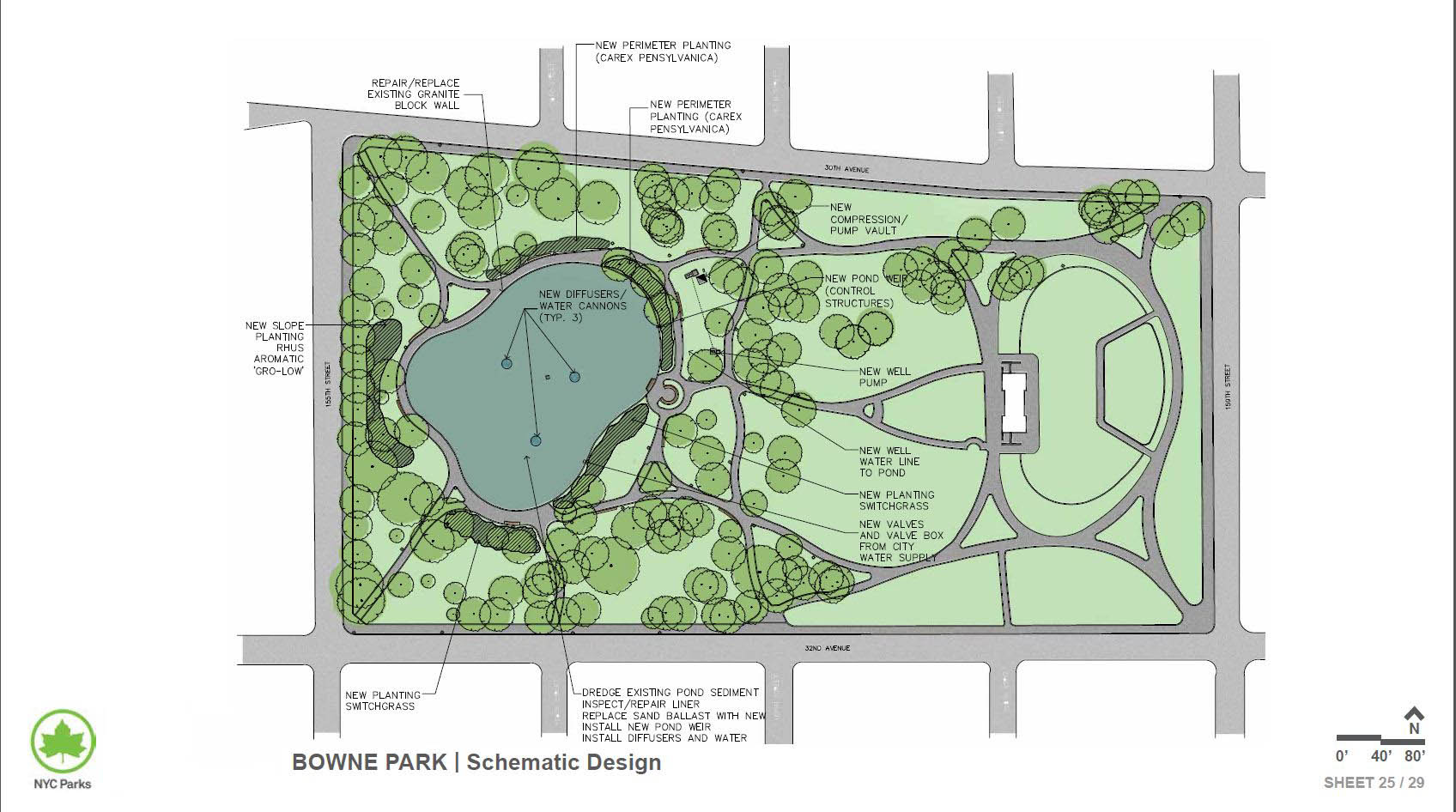 Design of Bowne Park Pond Reconstruction