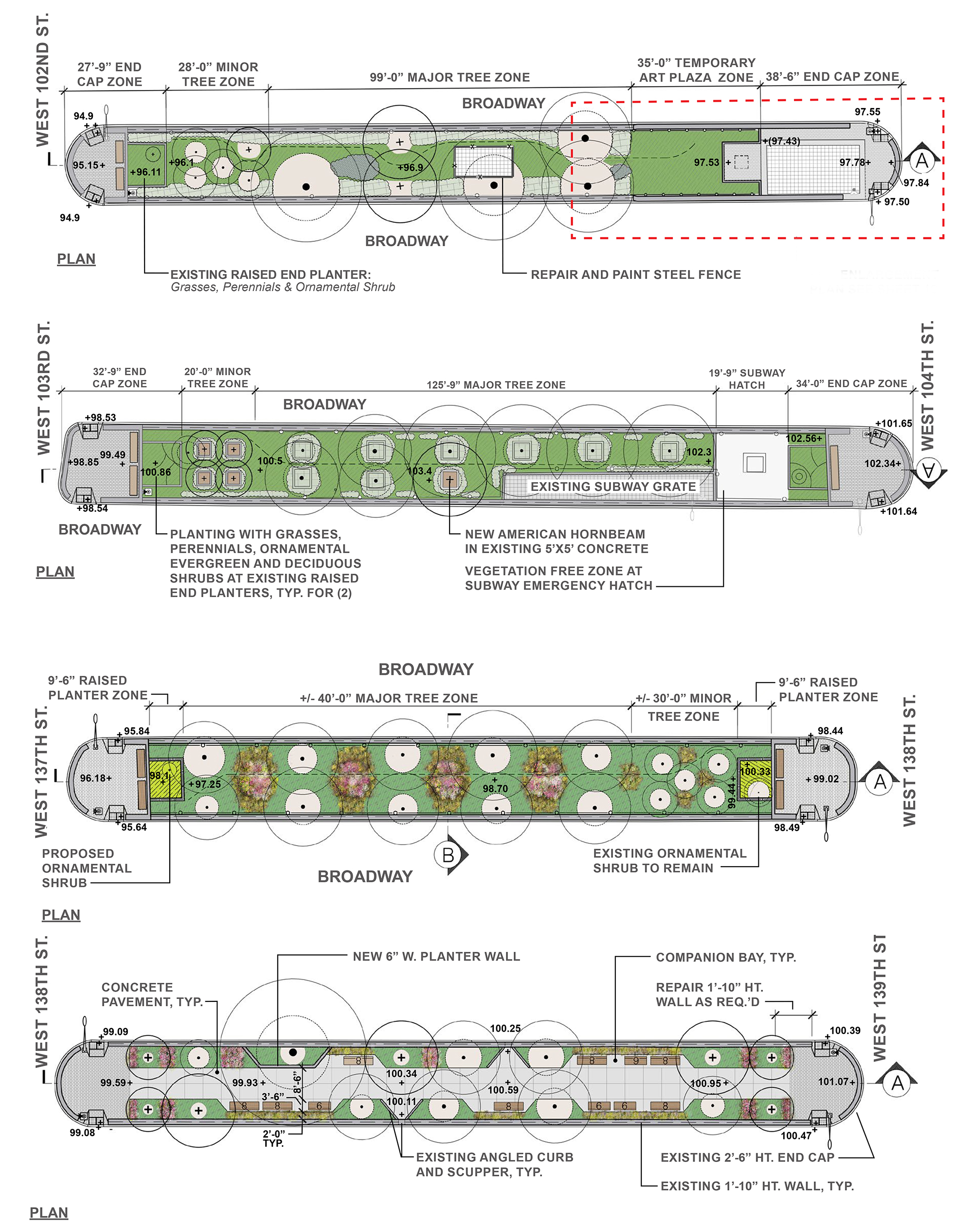 Design of Broadway Malls Reconstruction