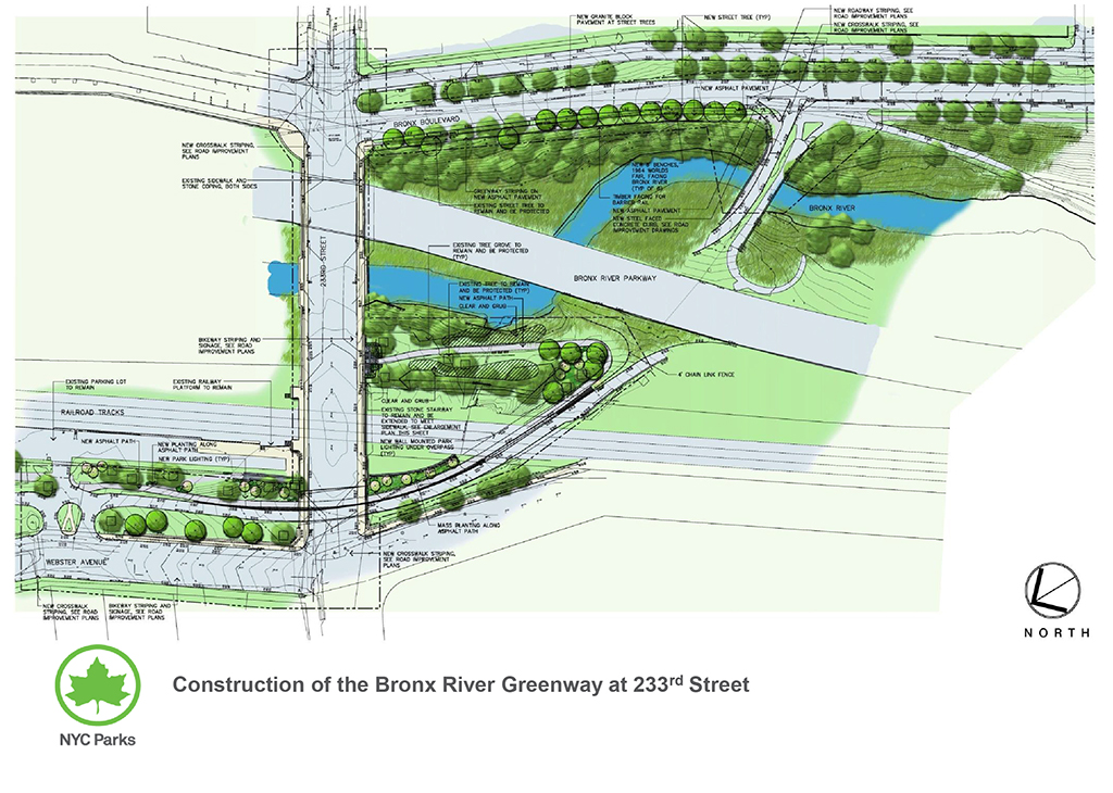 Design of Bronx River Park 233rd Street Bikeway Reconstruction