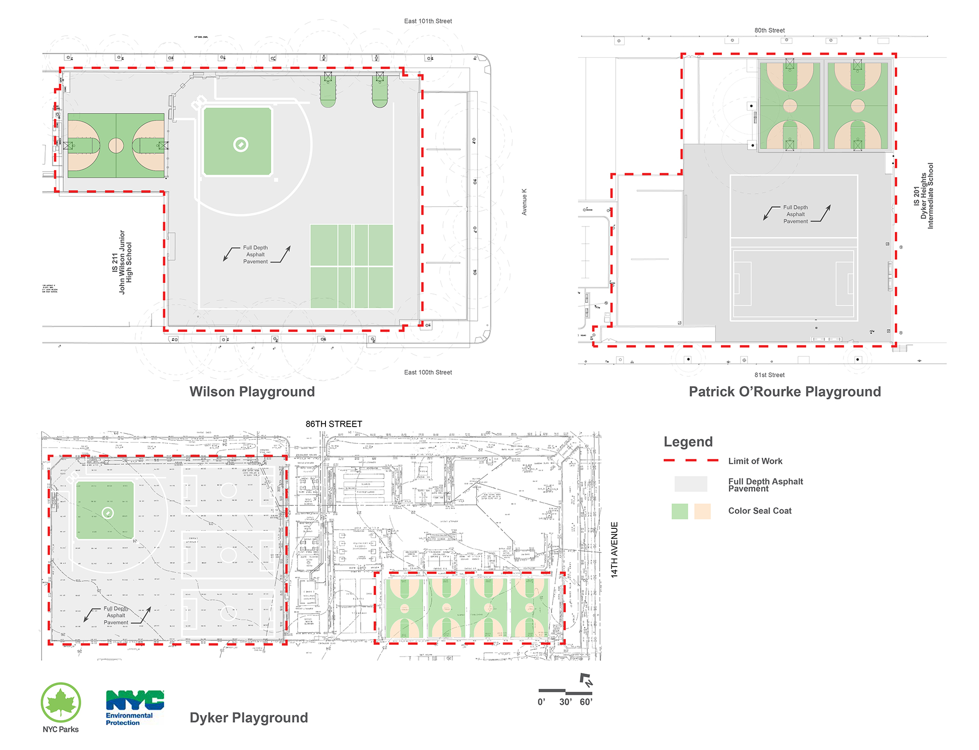 Design of Brooklyn Multipurpose Play Areas Reconstruction