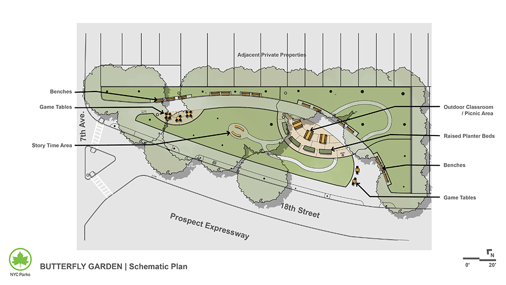 Design of Butterfly Gardens Pavement Reconstruction and Planted Area Expansion