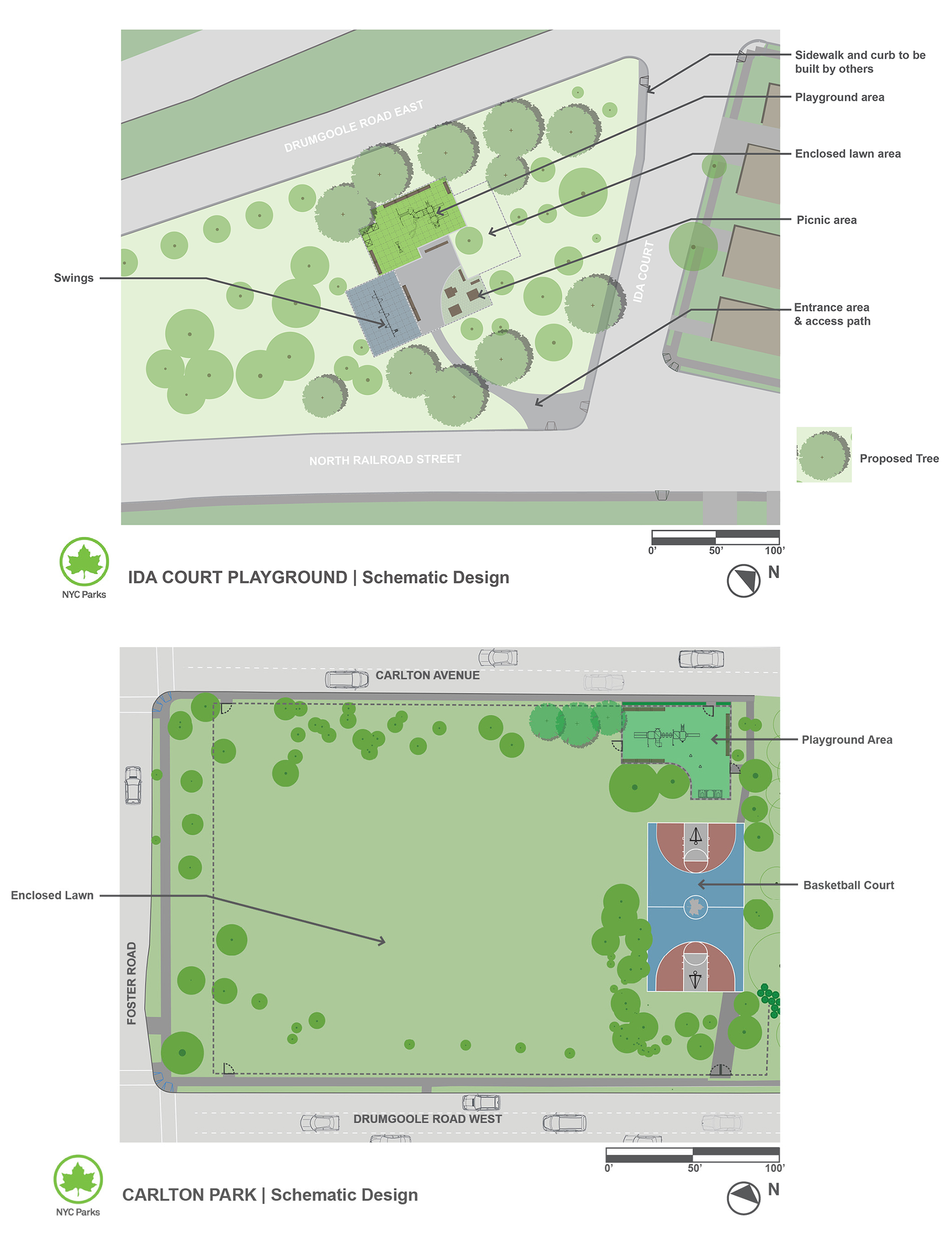 Design of Carlton Park Landscape and Ida Court Playground Reconstruction