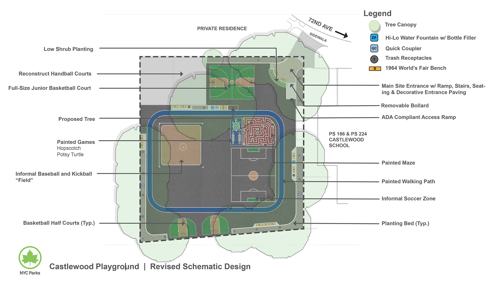 Design of Castlewood Playground Multipurpose Play Area Reconstruction