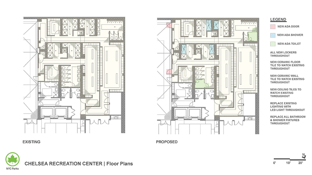 Design of Chelsea Recreation Center Locker Room Reconstruction