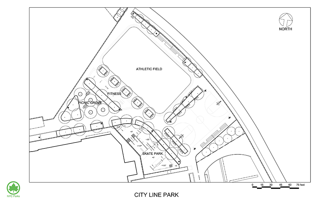 Design of City Line Park Synthetic Turf Construction