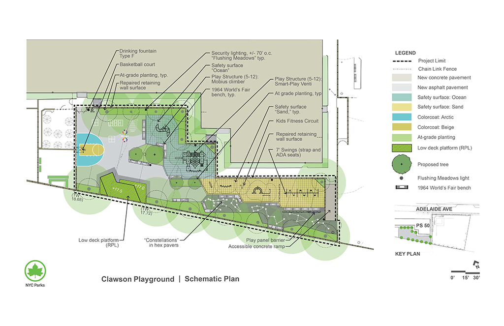 Design of Clawson Playground Reconstruction Phase I