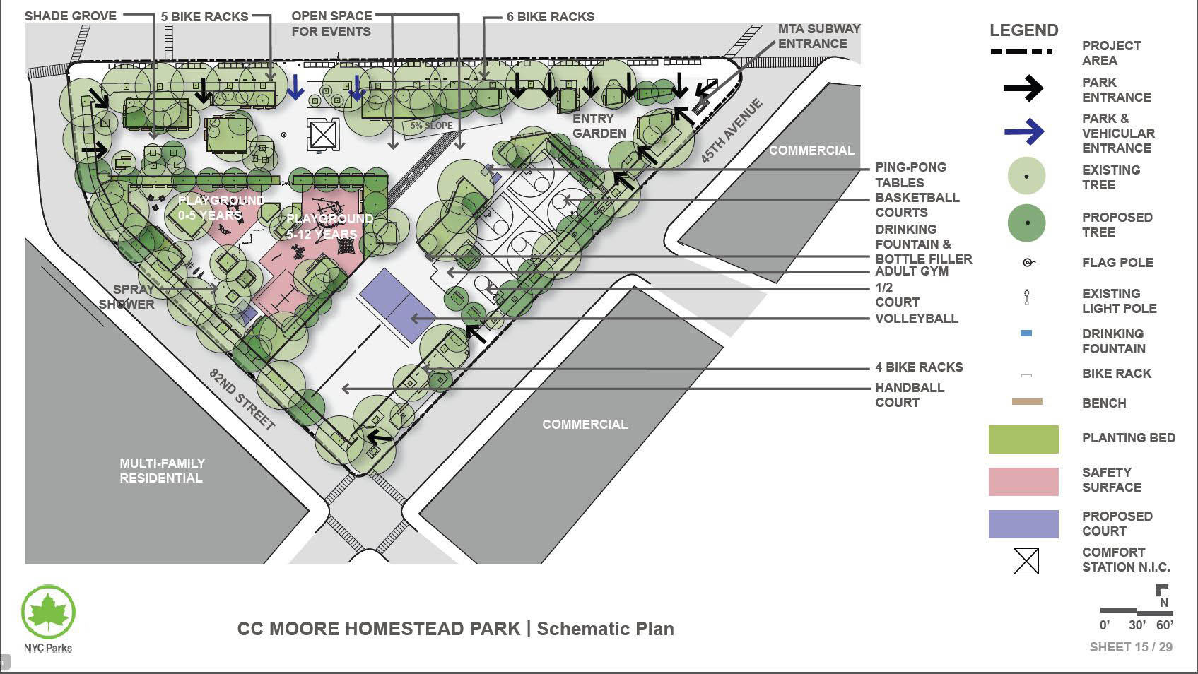Design of Clement Clarke Moore Homestead Playground Reconstruction
