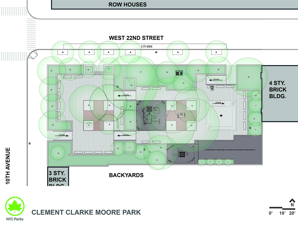 Design of Clement Clarke Moore Park Reconstruction