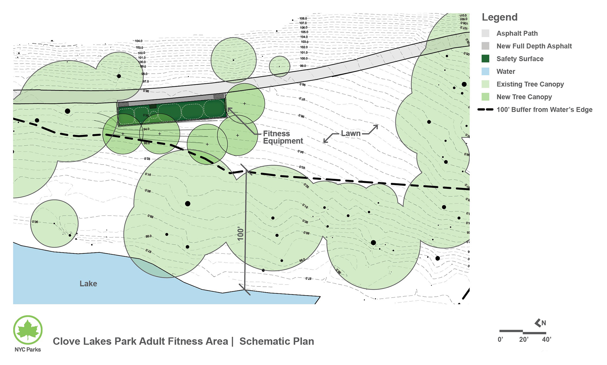 Design of Clove Lakes Park Fitness Equipment Reconstruction