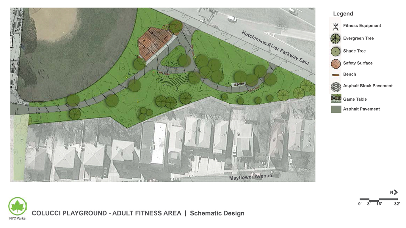 Design of Colucci Playground Adult Fitness Equipment Construction