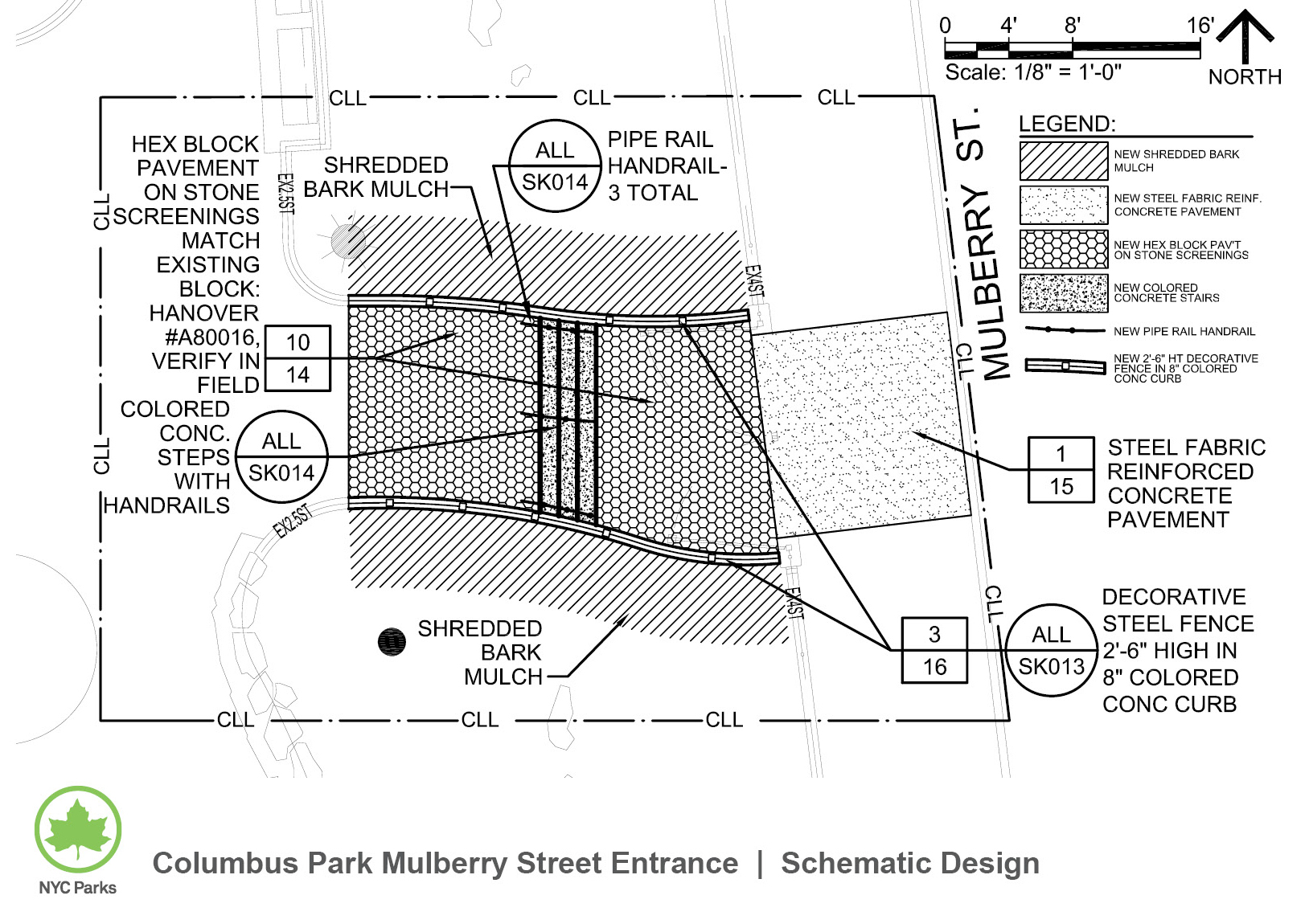 Design of Columbus Park Mulberry Street Entrance Reconstruction
