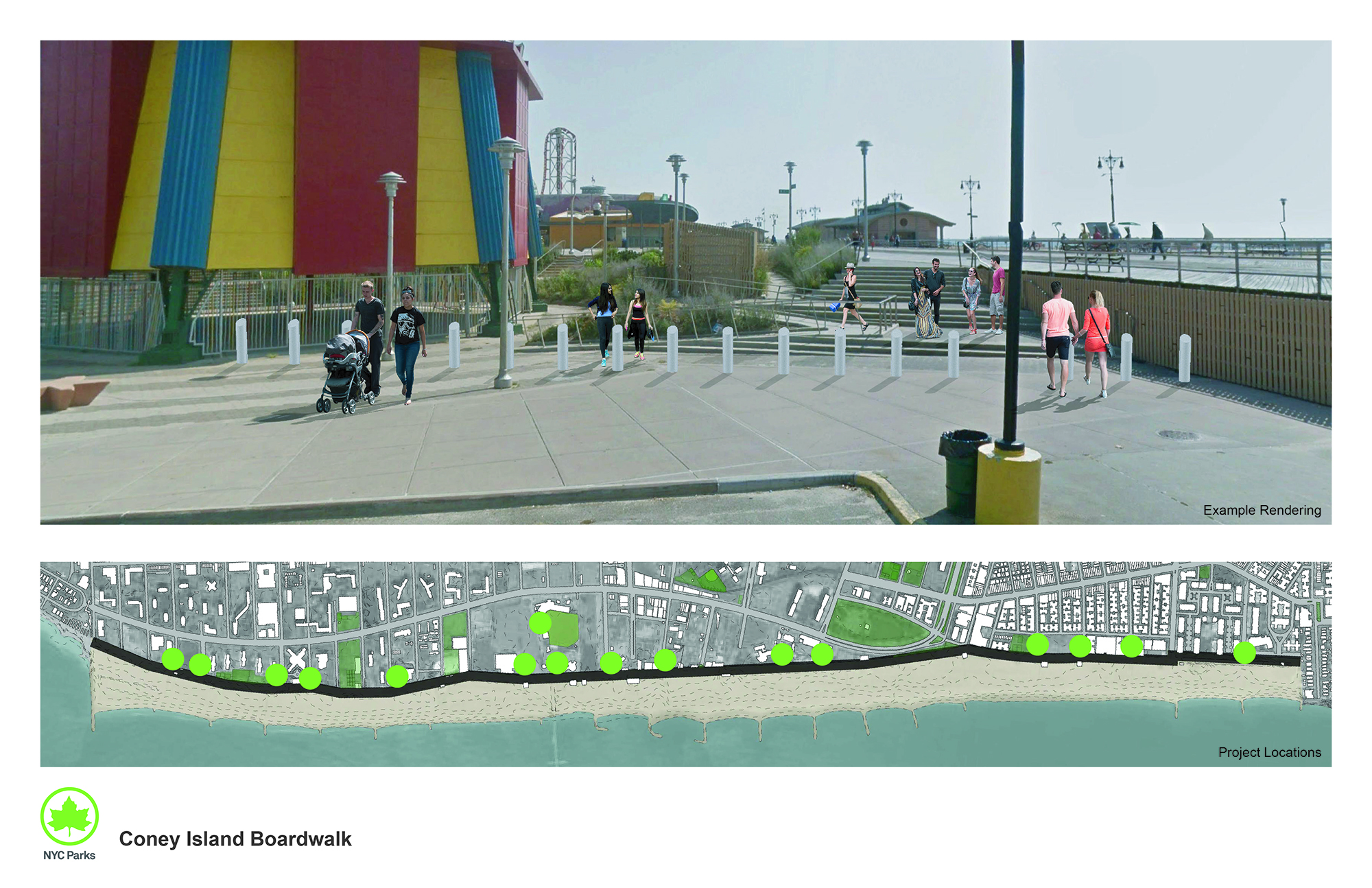 Design of Coney Island Boardwalk Security Measures Construction