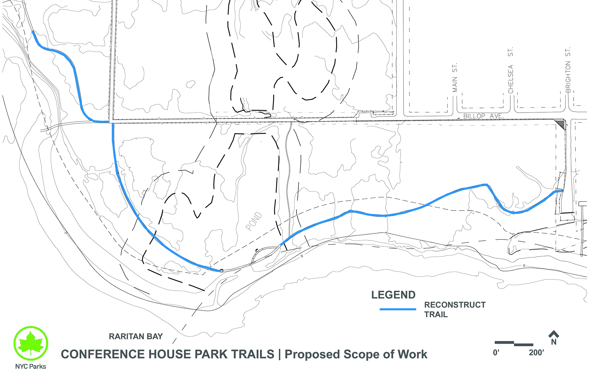 Design of Conference House Park Path, Rail, and Landscape Reconstruction (Hurricane Sandy)