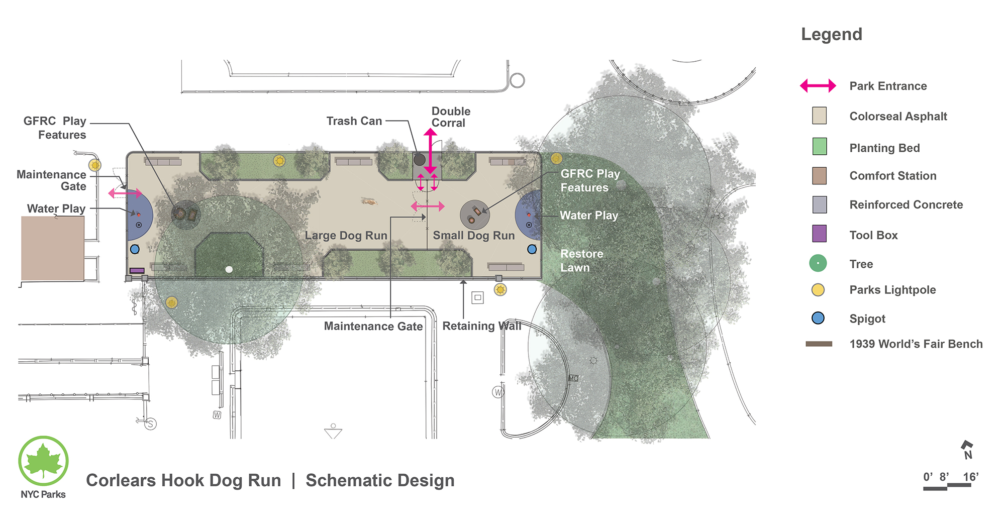 Design of Corlears Hook Park Dog Run Reconstruction