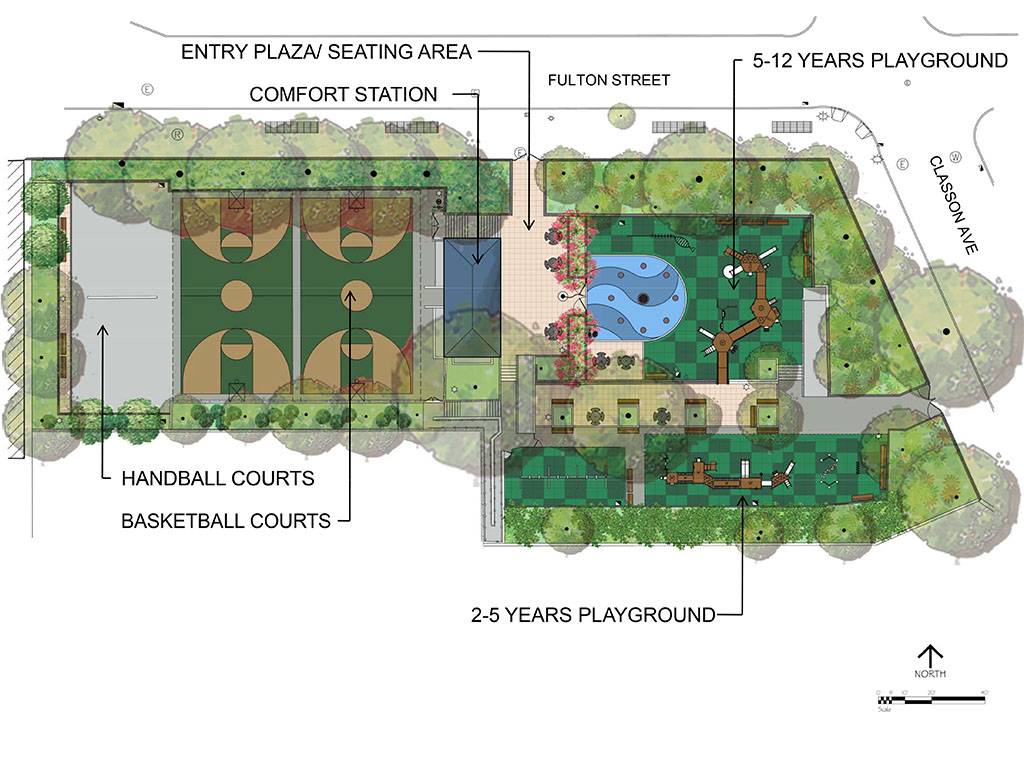 Design of Crispus Attucks Playground Handball and Basketball Court Reconstruction