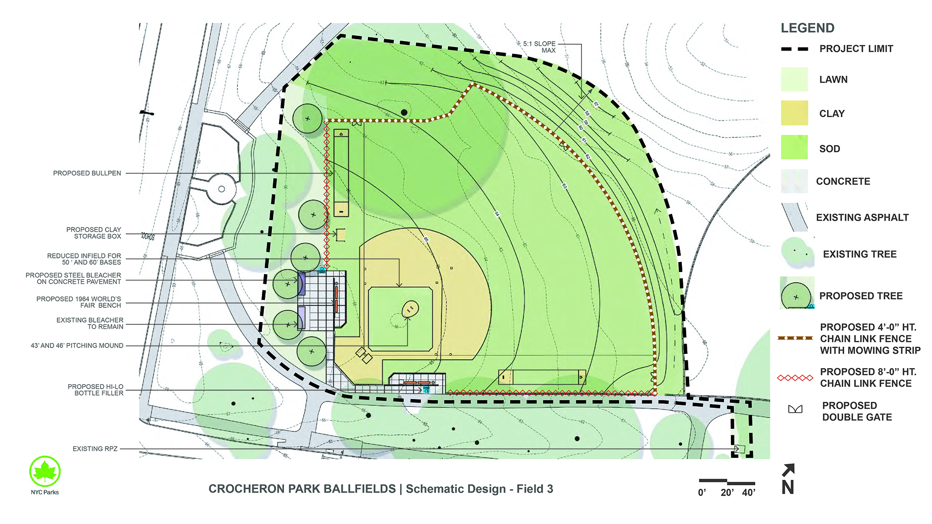 Design of Crocheron Park Little League Ballfields Reconstruction