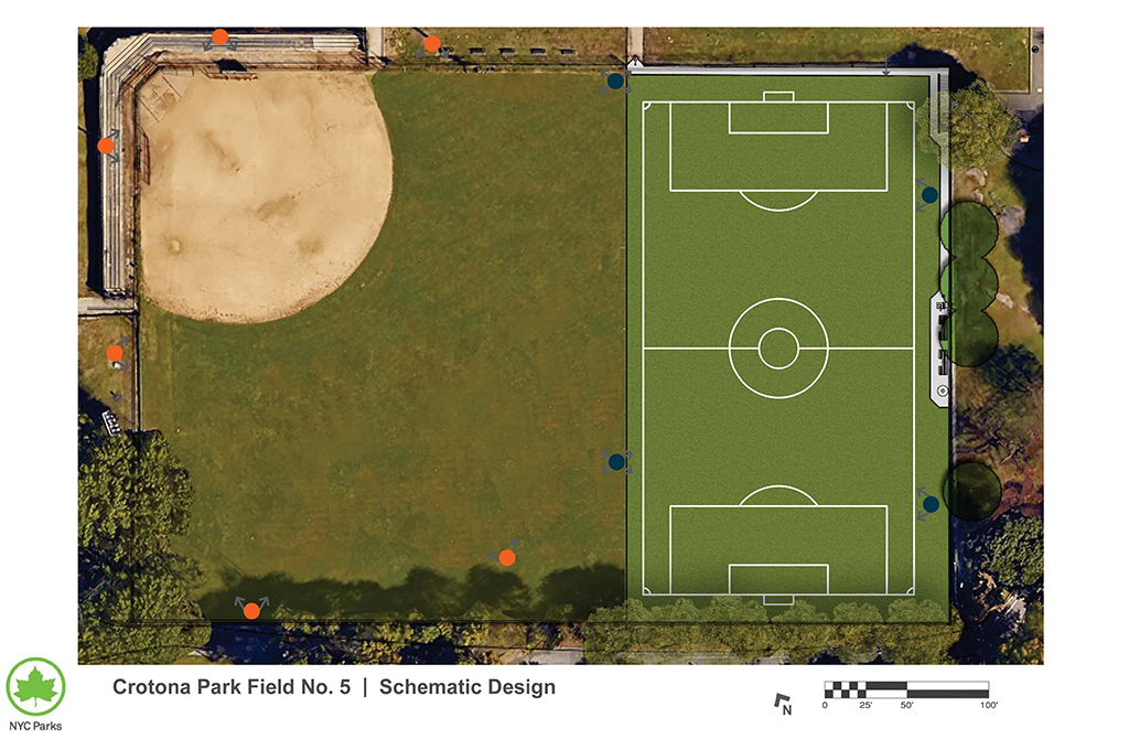 Design of Crotona Park Ballfield 5 Reconstruction