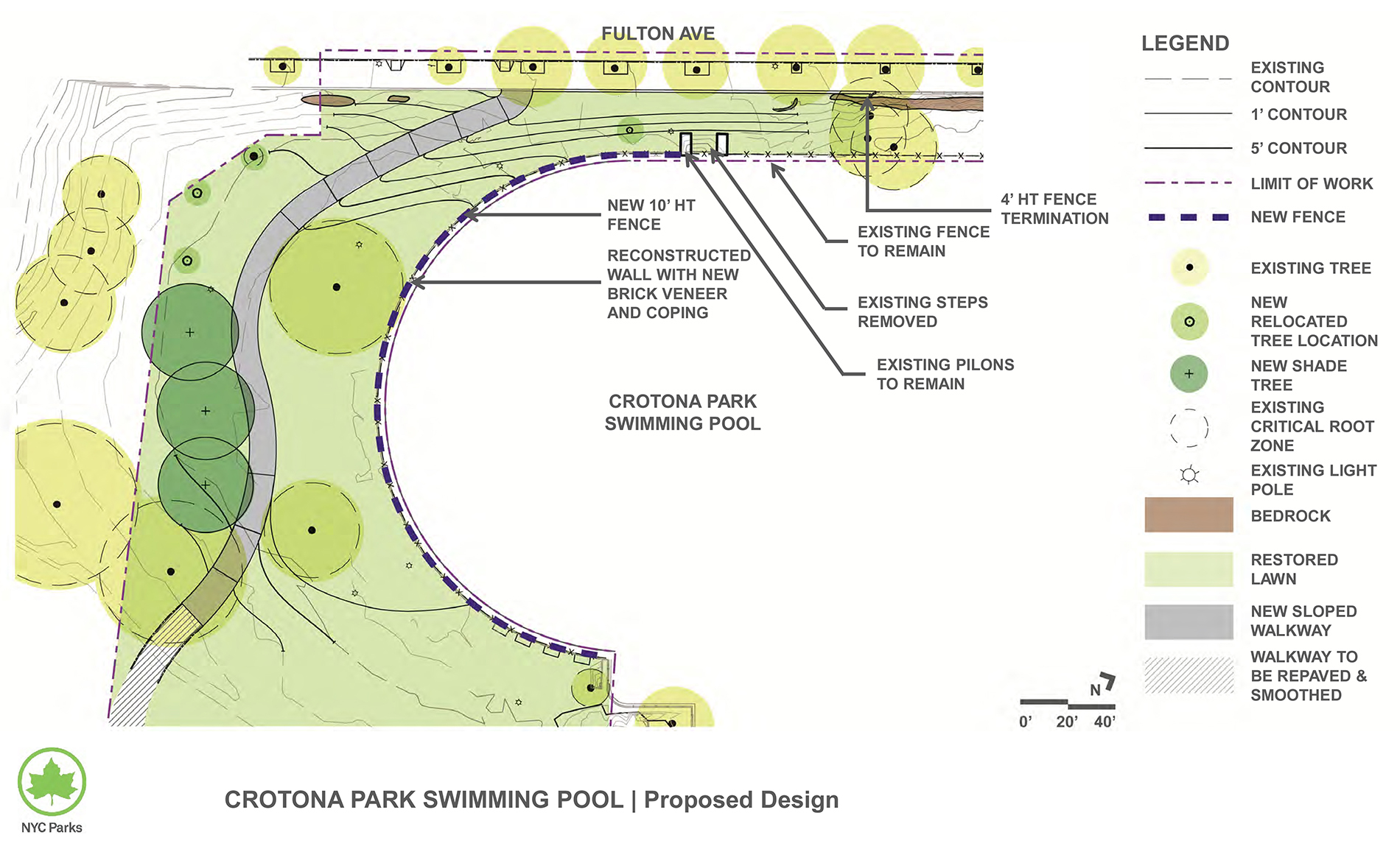 Design of Crotona Park Wall and Fence Reconstruction