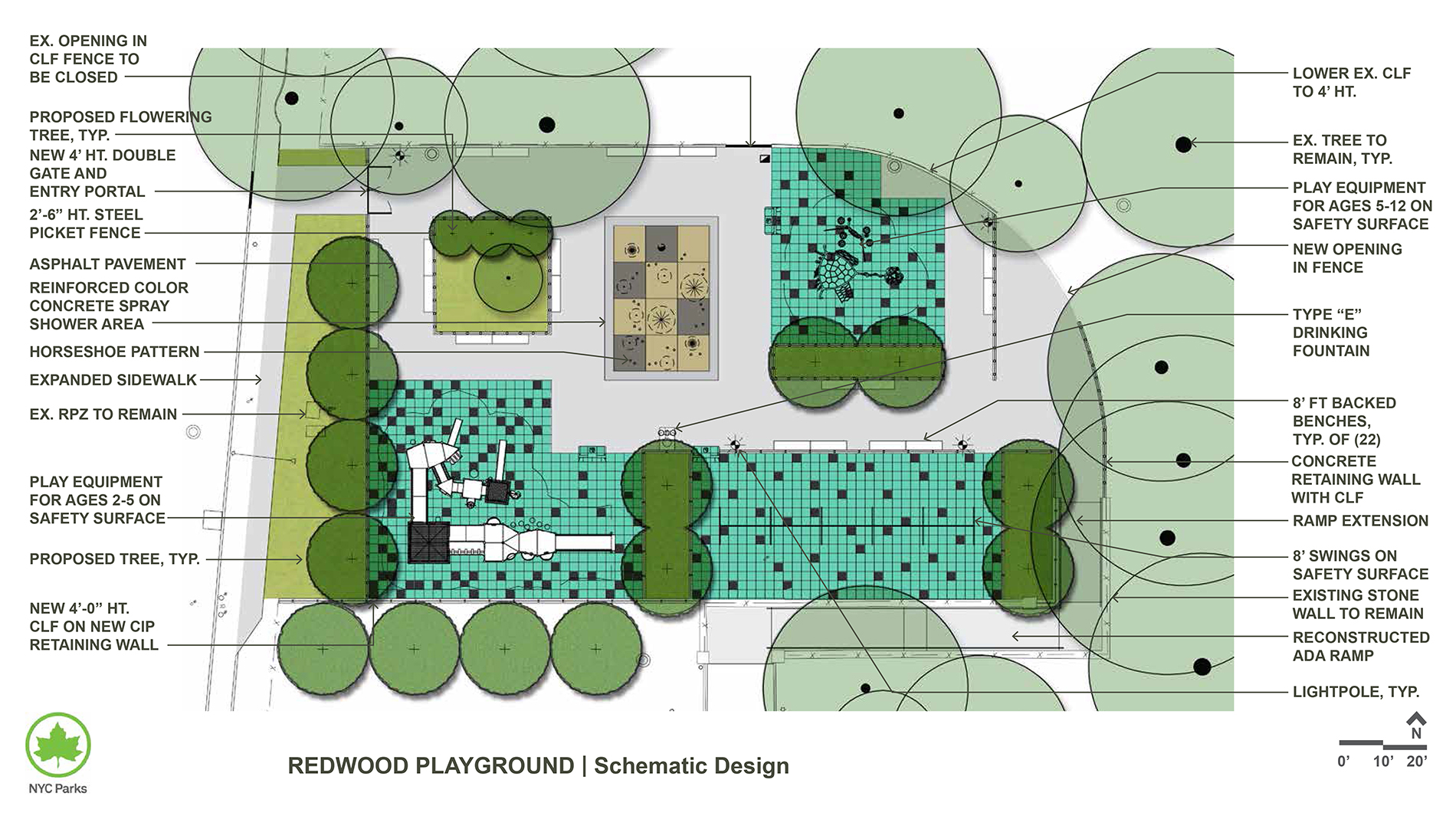Design of Cunningham Park Lower Playground Tot Lot Reconstruction