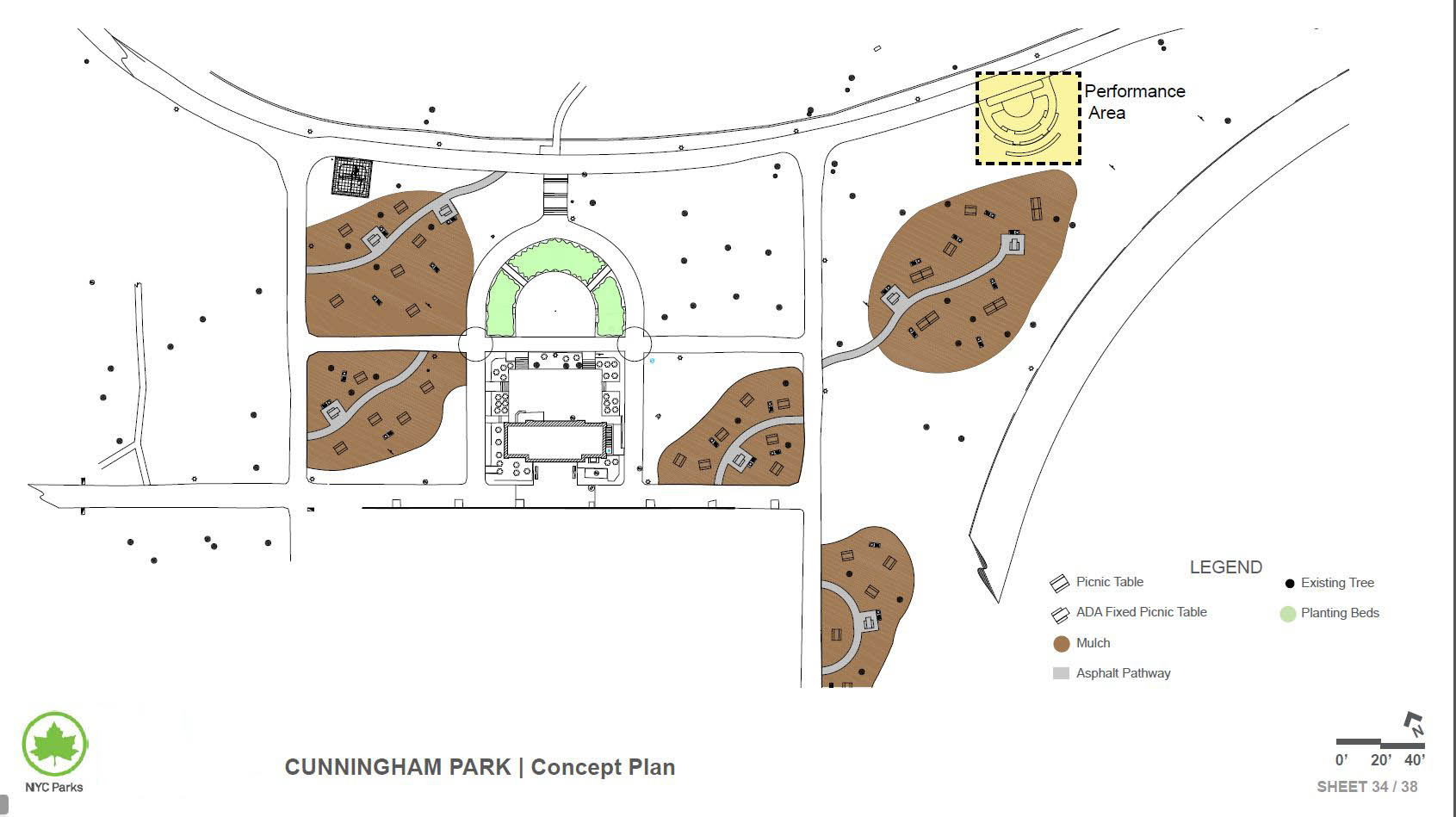 Design of Cunningham Park Picnic Area Reconstruction and Performance Area Construction