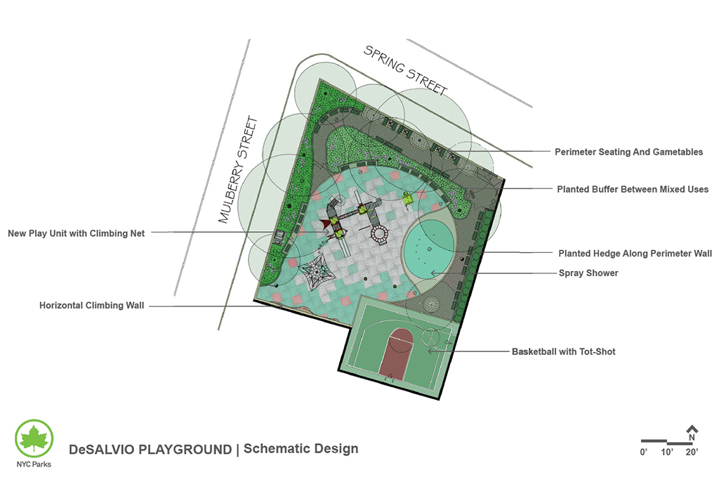 Design of DeSalvio Playground Reconstruction
