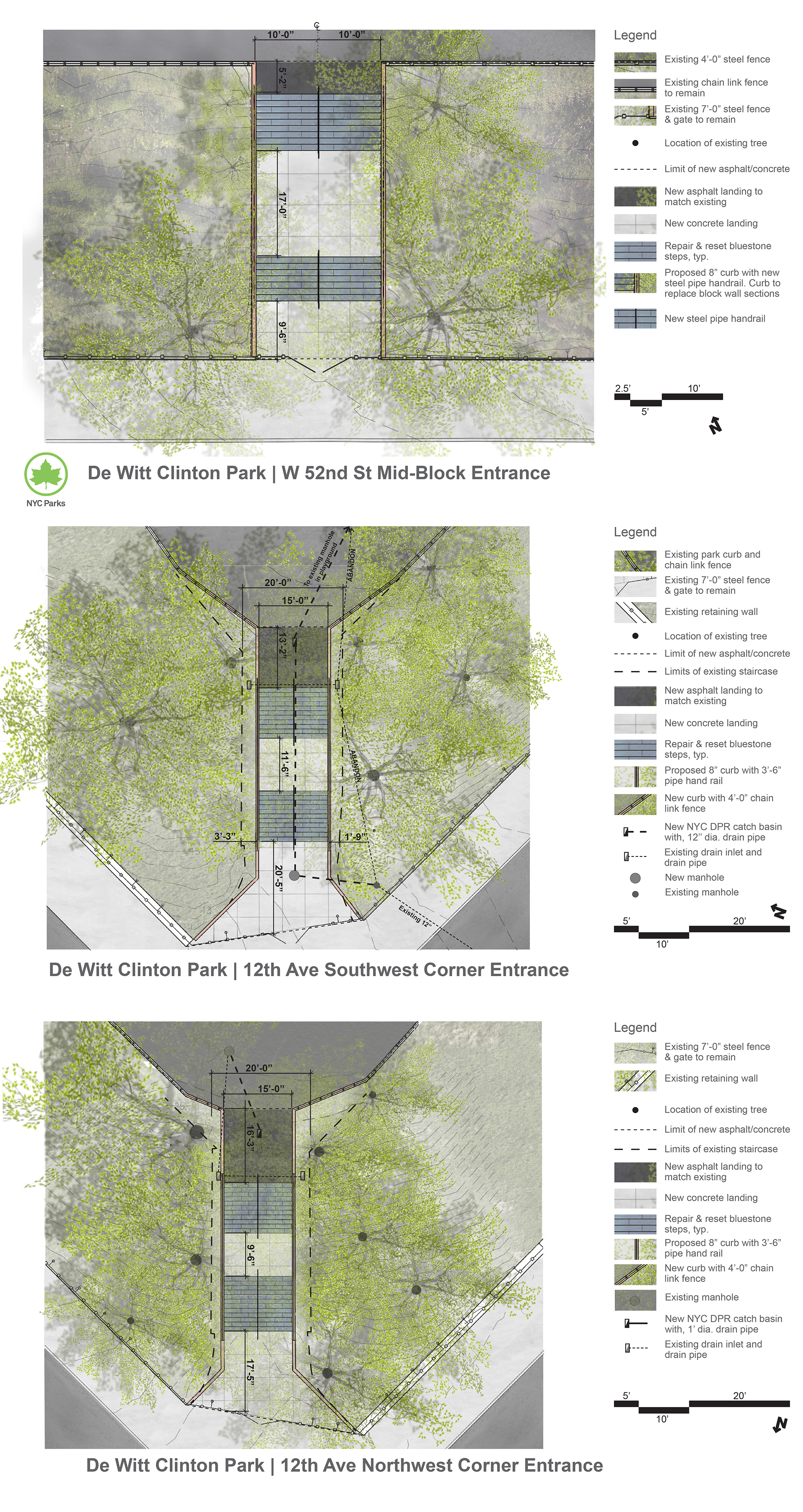 Design of DeWitt Clinton Park Staircase Reconstruction