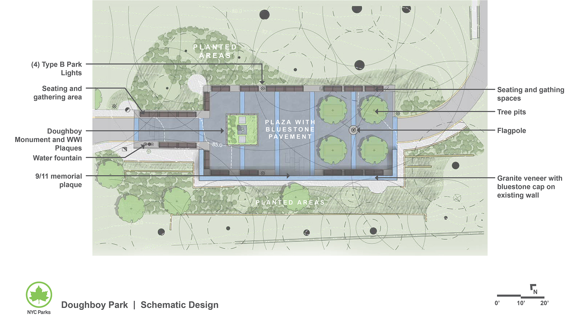 Design of Doughboy Plaza Seating Area Reconstruction