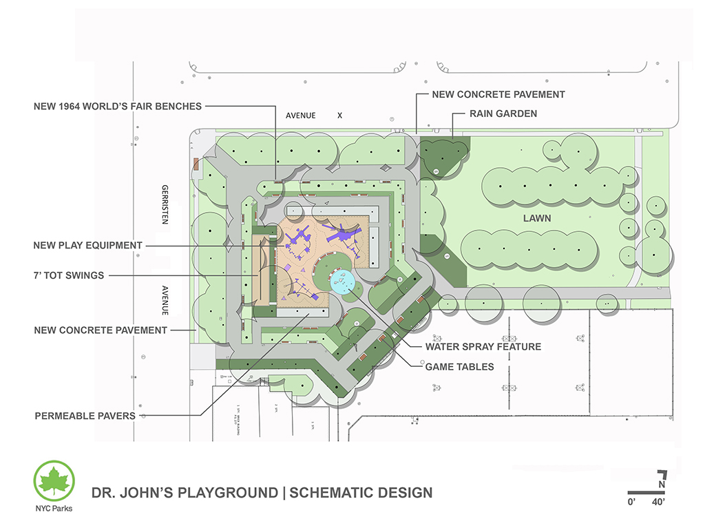 Design of Dr. John's Playground Paths, Water Supply & Drainage System Reconstruction