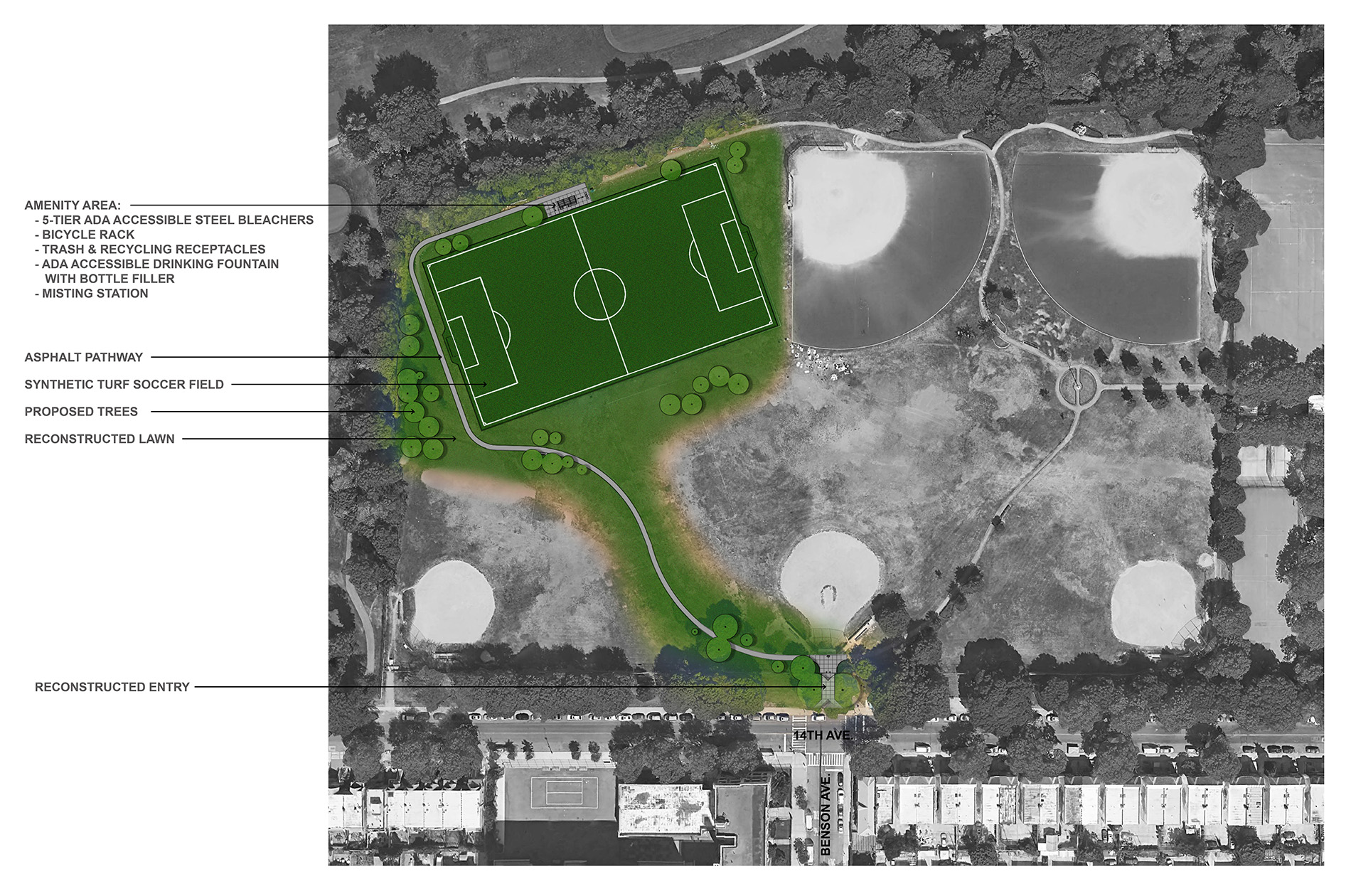 Design of Dyker Beach Park Synthetic Turf Soccer Field Reconstruction