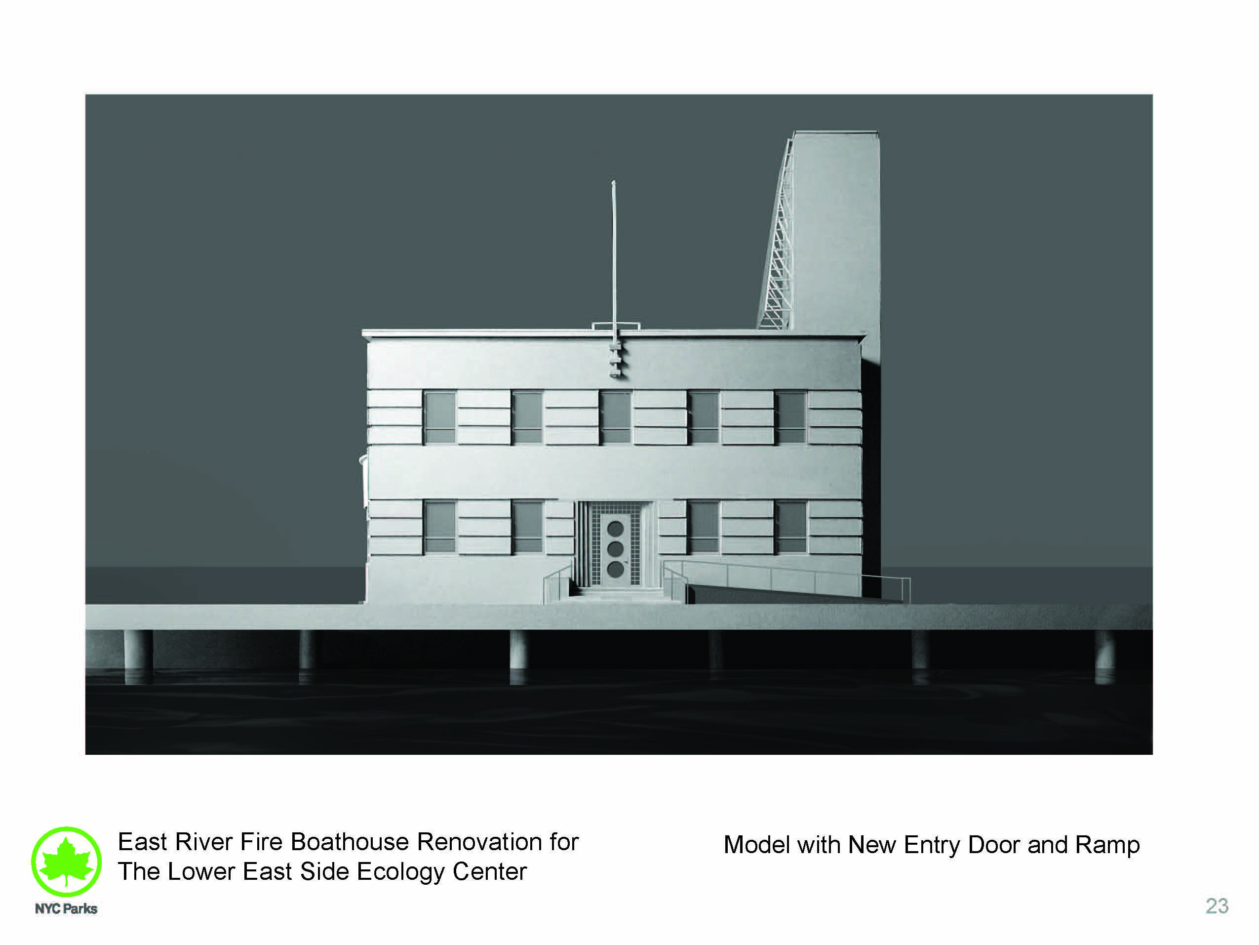 Design of East River Park Fireboat House Reconstruction