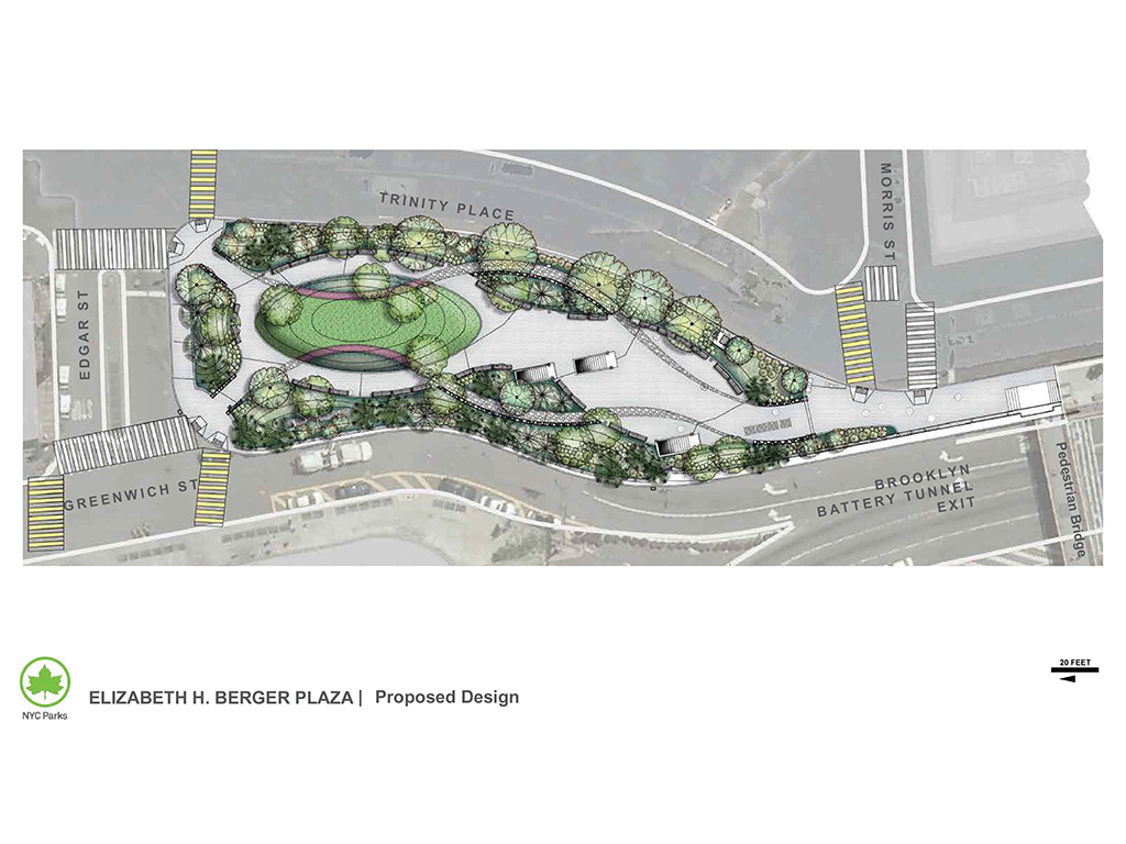 Design of Elizabeth H. Berger Plaza Park Construction