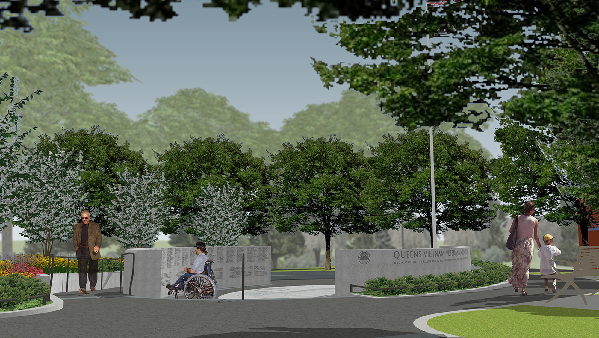 Design of Elmhurst Park Vietnam Veterans Memorial Construction