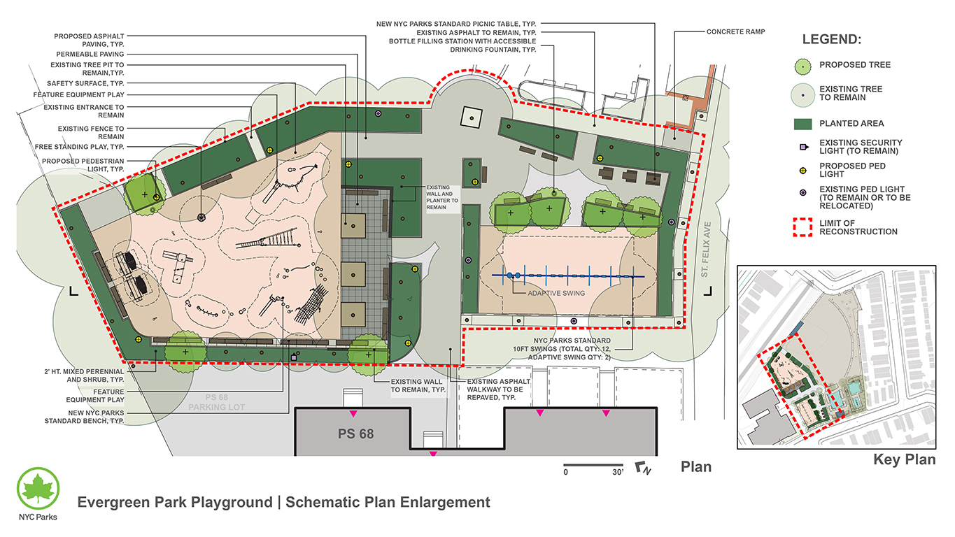 Design of Evergreen Park Playground Reconstruction