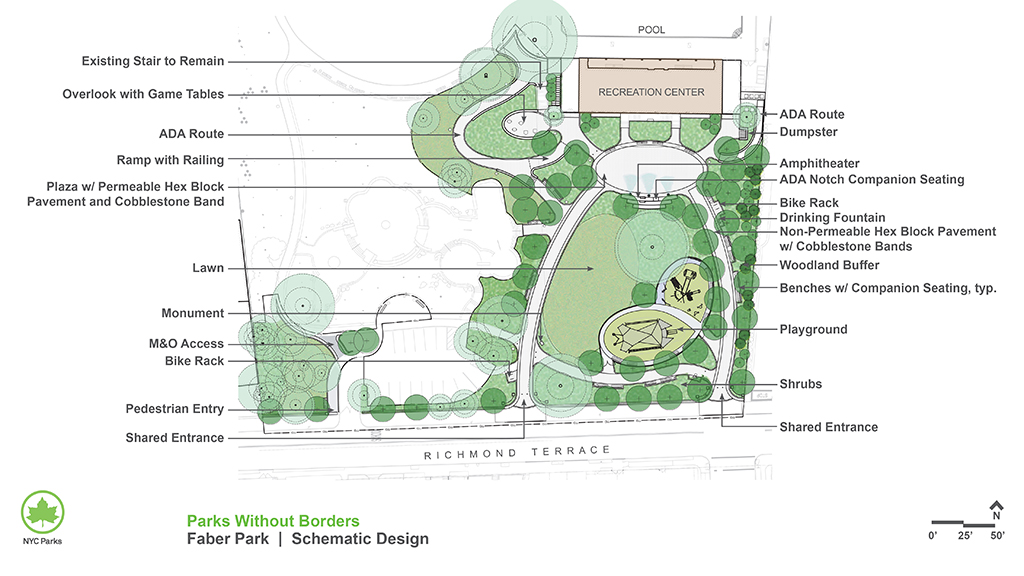 Design of Faber Park Active Recreation, Lighting and Seating Area Construction