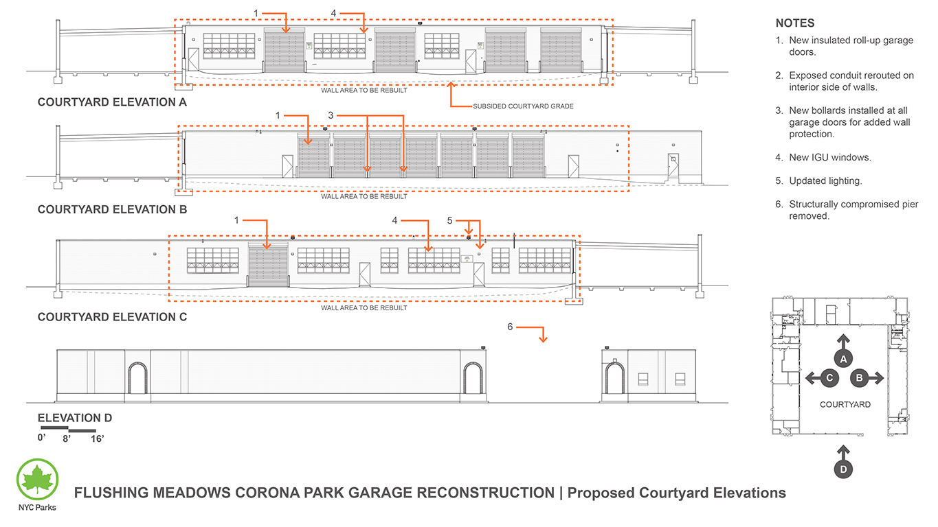 Design of Flushing Meadows Corona Park Garage Reconstruction